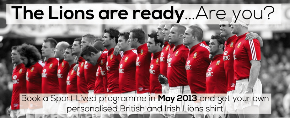Book any programme and get a free personalised Lions shirt